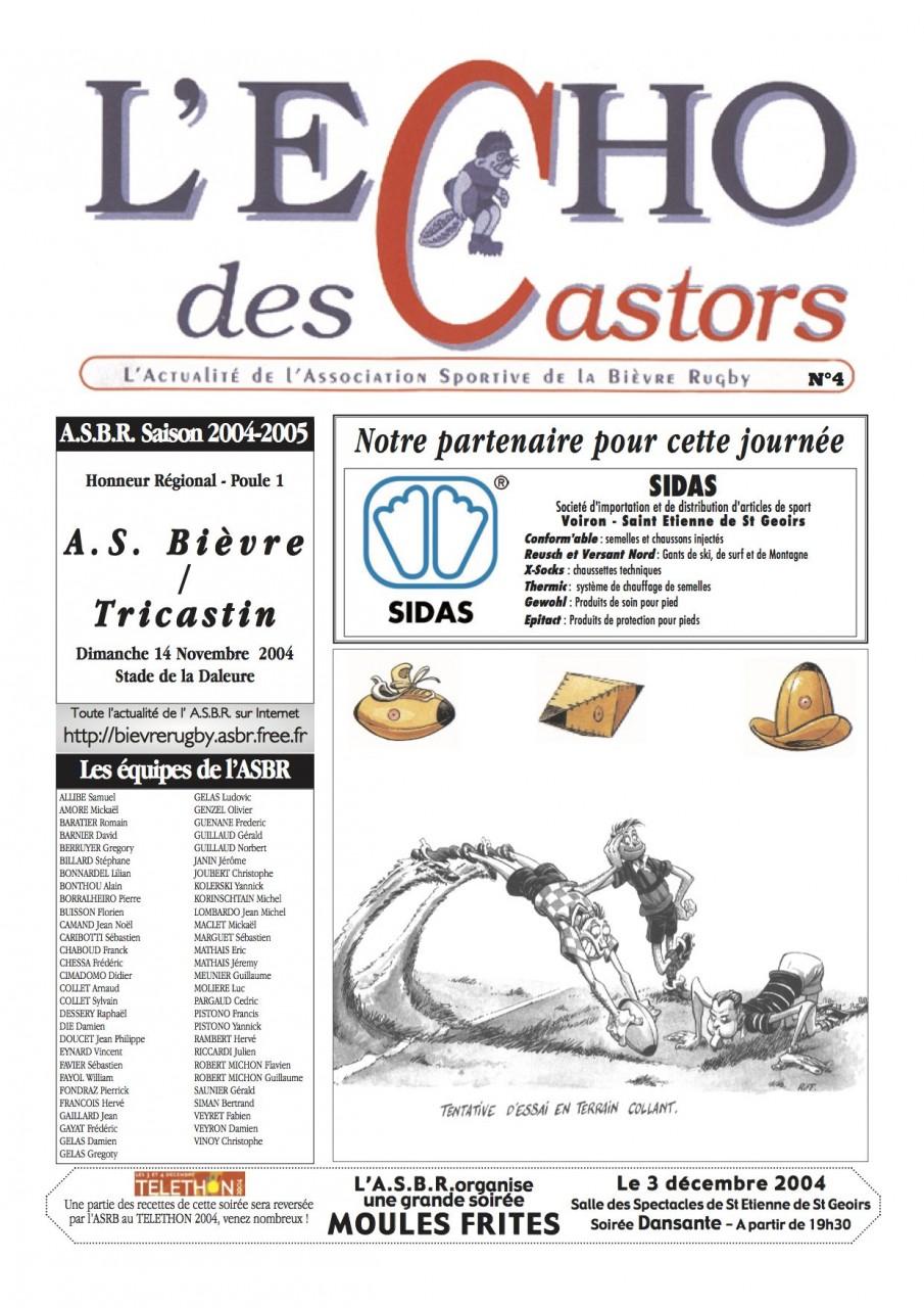 Souvenirs, Souvenirs... L'Écho des Castors - 2004-2005 - N°4